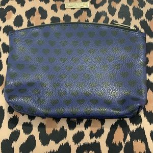 •3 for $10• Ipsy Bag- Navy with Black Hearts